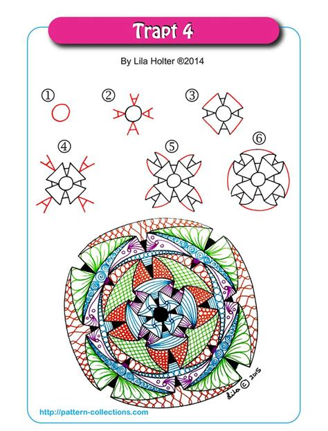 doodle draw the trapt 4 by lila holter zentangle step by step