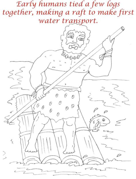 early humans coloring page free coloring pages of prehistoric kids