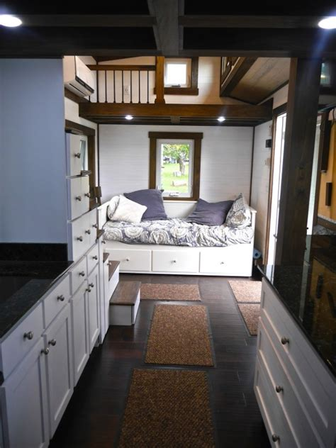 tiny house one level 24 luxury tiny home on wheels by tiny house chattanooga