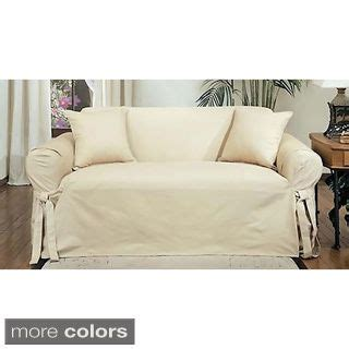 white cotton duck slipcovers cotton duck casual fit loveseat slipcover white solid