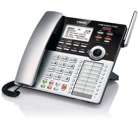 4 Phone System 4 Line Small Business Phone System Starter Bundle Sbs Sb0 Vtech 174 Cordless Phones