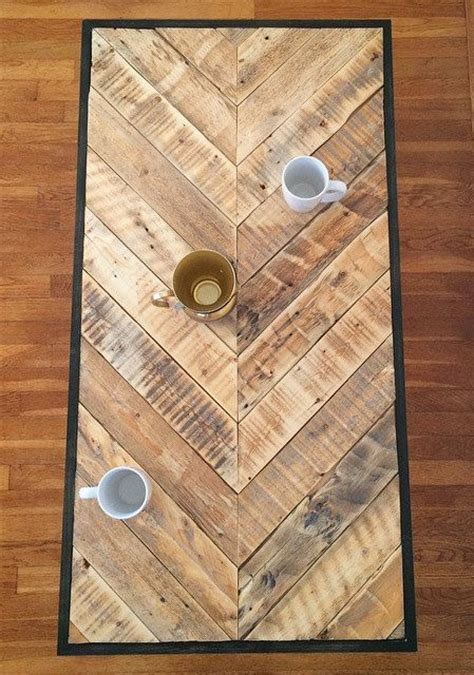 wood pattern on metal chevron reclaimed pallet wood coffee table with metal