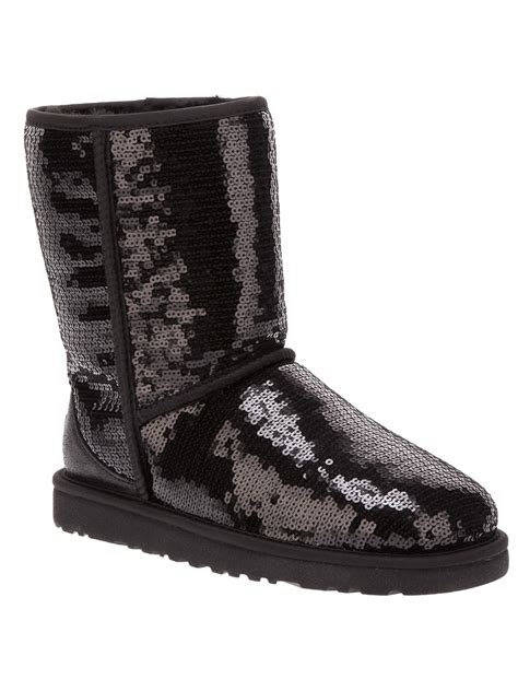 ugg sequin embellished boot in black lyst