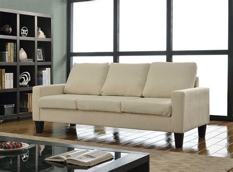 home 3 person contemporary upholstered linen sofa affordable furniture stores to save