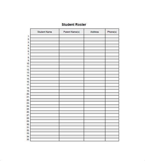 template for list of names class list template 15 free word excel pdf format