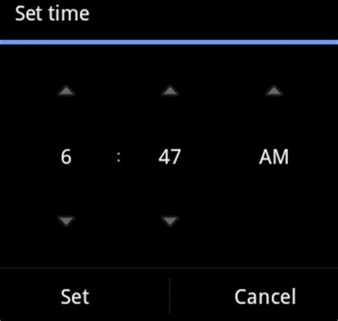 timepicker android android time picker