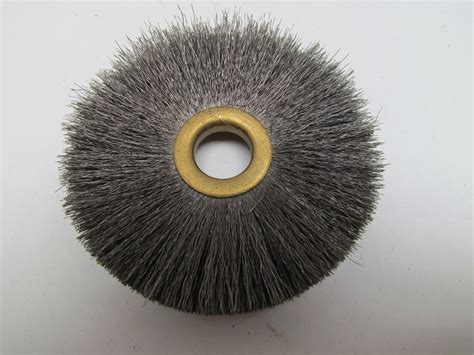 bench grinder brush 3 3 4 quot bench grinder wire wheel brush 5 8 quot arbor hole 1 4 quot wide 1 1 8 quot bristles ebay