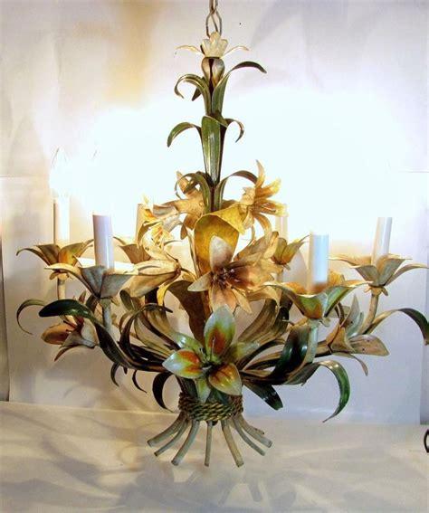 Chandelier Flowers 134 Best Italian Tole Chandelier Images On Chandelier Chandelier Lighting And