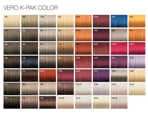joico color chart joico vero kpak color system vero k pak chrome