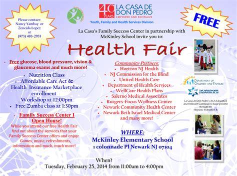 Health Fair 171 La Casa De Don Pedro Community Health Fair Flyer Template