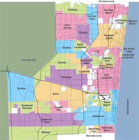 broward county florida map map of broward county map travel holidaymapq
