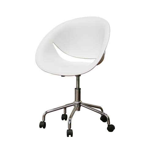 White Modern Desk Chair Desk Chairs Contemporary Interior Decorating