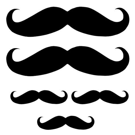 printable mustache stickers 5 mustache decals for no shave movember november decorations