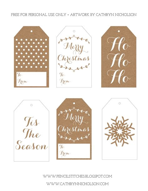 printable tags on pinterest christmas gift tags
