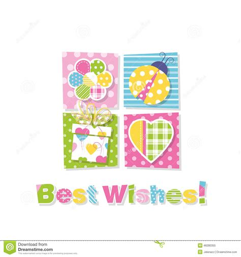 best wishes greeting cards template best wishes greeting card stock vector image 46280355