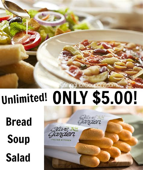 Unlimited Soup And Salad Olive Garden Dinner by Olive Garden Unlimited Soup Salad And Breadsticks Lunch