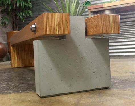 concrete and wood bench 25 best ideas about concrete bench on pinterest concrete wood bench modern outdoor