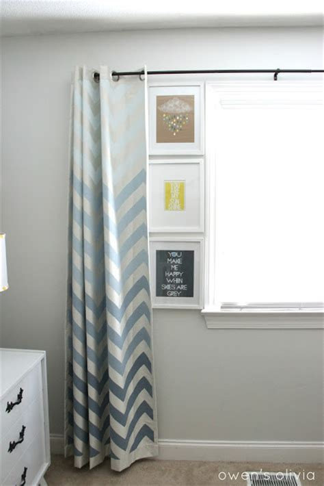 Chevron Curtains Nursery Ombre Chevron Curtains In Boys Nursery