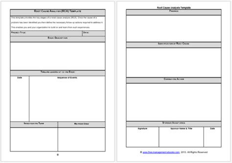 rca template doc simple root root cause analysis templates 8 docs for word excel
