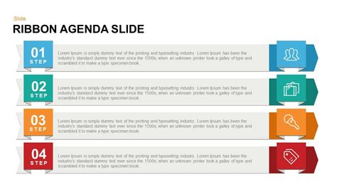 Ribbon Agenda Slide Powerpoint And Keynote Template Powerpoint Agenda