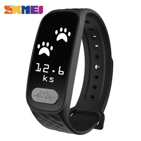 skmei jam tangan led gelang fitness tracker b20 black jakartanotebook