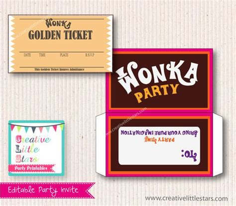willy wonka invitations templates new willy wonka invitations templates free template design