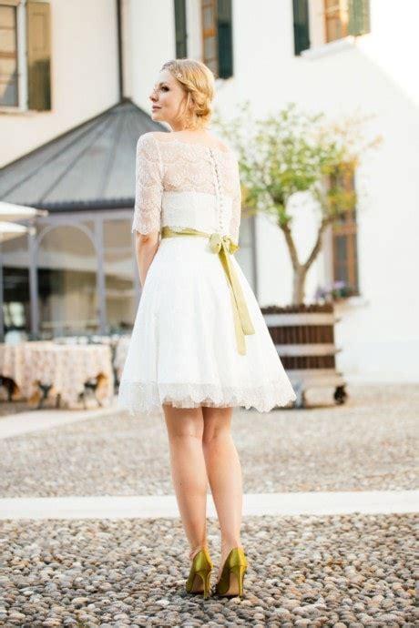Brautkleid Mittellang by Kurze Brautkleider Standesamt Hochzeitskleider L 228 Ssig Frech
