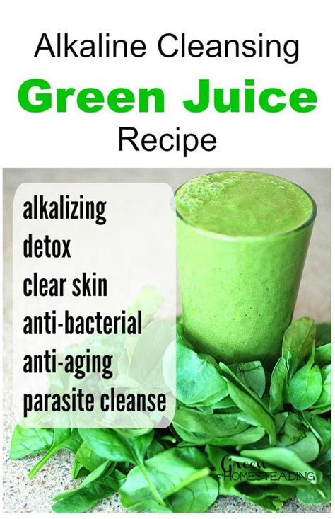 diy alkaline cleansing green juice recipe this