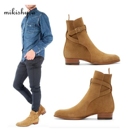 2016 suede boots new handmade crepe bottom