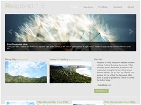 Respond 1 5 Free Website Template Free Css Templates Free Css Responsive Website Templates Free Html With Css