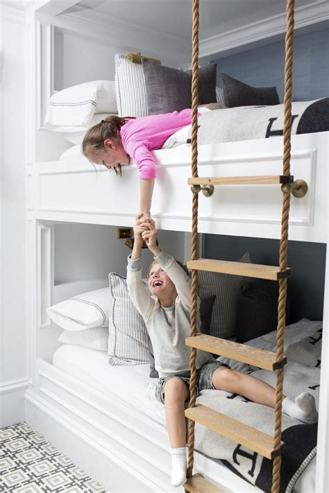 inspiration built  bunks curtain hardware  rope ladder