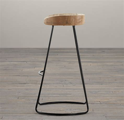 1950s Oak Tractor Seat Stool by 1950s Oak Tractor Seat Stool