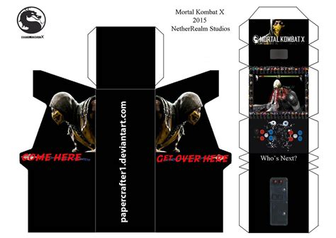 Mortal Kombat Papercraft - mortal kombat x papercraft template by papercrafter1 on
