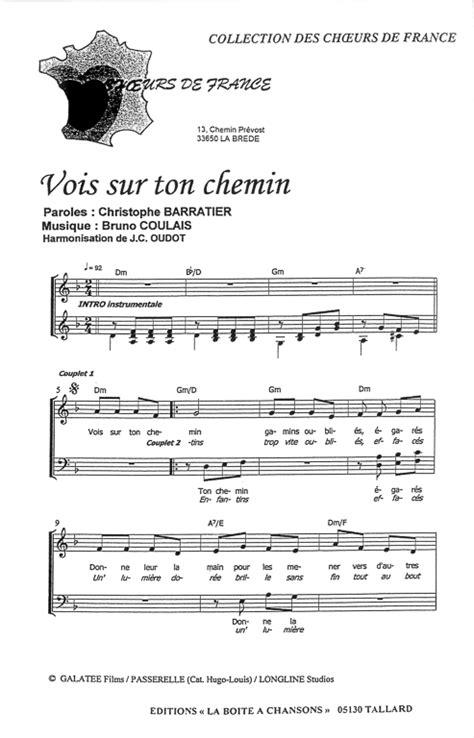 tutorial piano vois sur ton chemin partition de musique 233 diteur de partitions pour chorale
