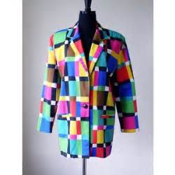 multi colored windbreaker multi colored mondrian inspired blazer jacket susan