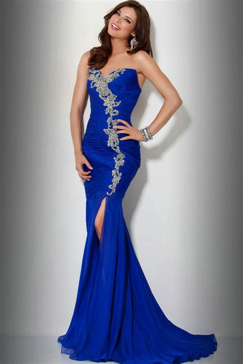 plus size royal blue dress pjbb gown