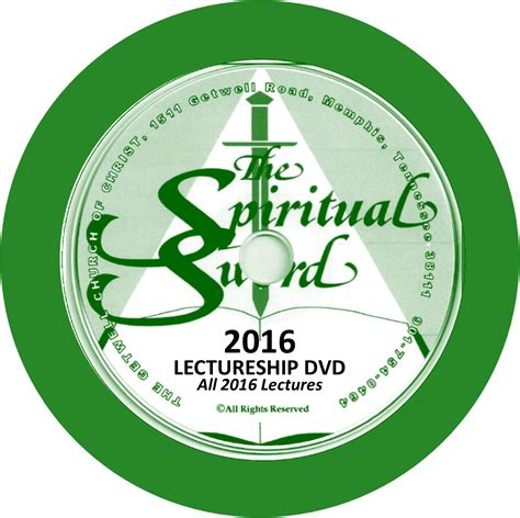 Dvd With Sword 2016 2016 lectureship dvd of all lectures for the