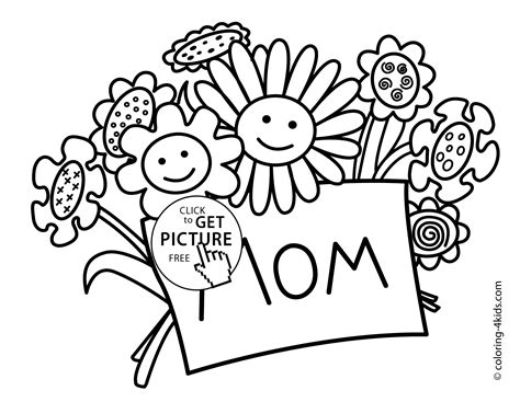 mother s day coloring pages for kids printable free