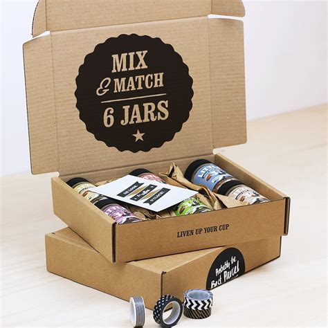 Coffee Box a mix and match decaf flavour infused instant coffee box