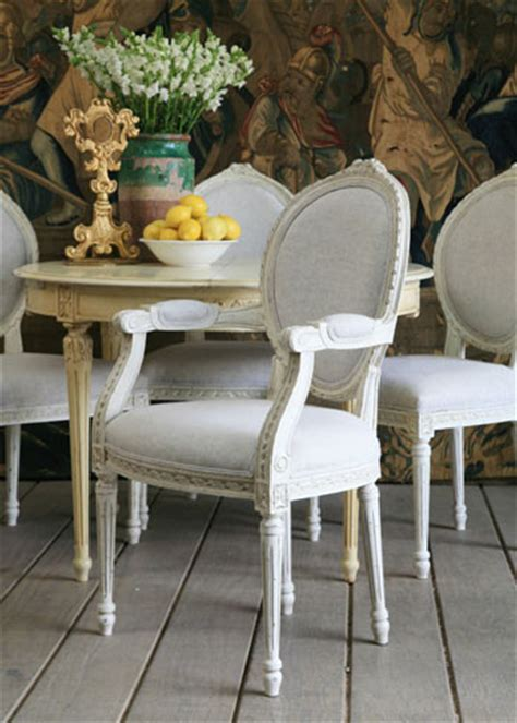 eloquence louis upholstered carver antique white chair