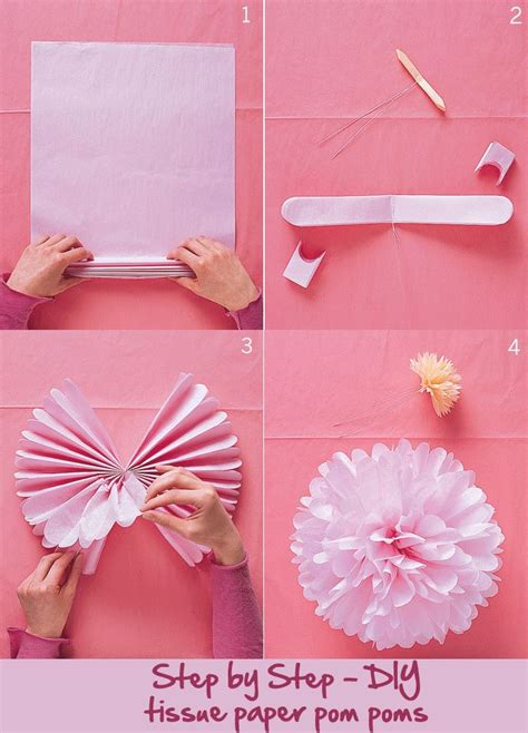 cool tissue paper crafts how to make tissue paper pom poms cool diy