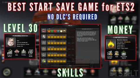 mod de save game para ets2 best start save game with money and skills for v1 23 x