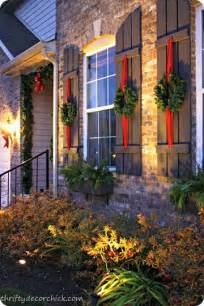 Outdoor Windows Decorating Shutters Wreaths And The Shutter On