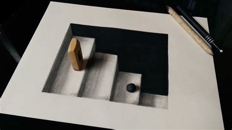 How To Draw 3d Stairs On Paper by How To Draw 3d Stairs 3d Ladders Optical Illusion
