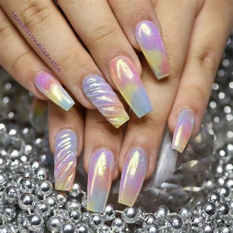 A Nail by 10 Impressive Coffin Nails Ballerina Nail Designs Gazzed