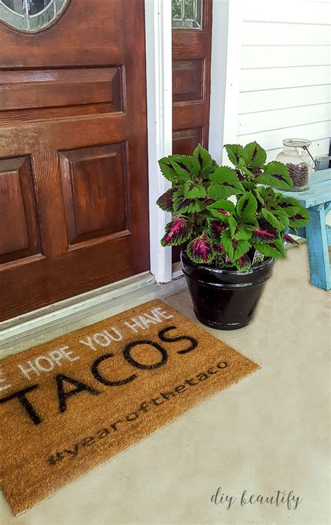 Front Door Matting Diy Front Door Mat Ideas And Tutorial Diy Beautify