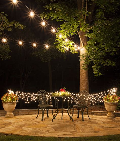 backyard christmas lights 21 outdoor lighting ideas for a shabby chic garden number