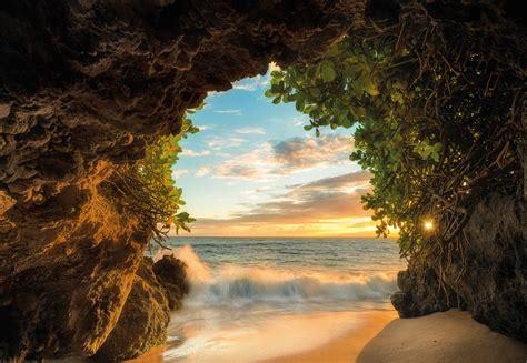 Fototapete Mit Tiefenwirkung by Fototapete Hide Out 368x254 Blaues Meer Strand Sonne