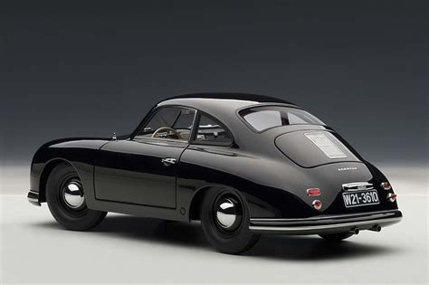 porsche coupe black autoart highly detailed die cast model black porsche 356