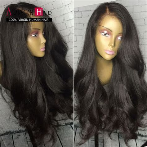 Base Wig Brown 80cm Wig Brown Lurus 180 Lace Lace Front Wigs Indian Human Hair Wig
